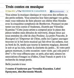 Article MediaPart - CD Veronika Kuzmina / R.Lebrun