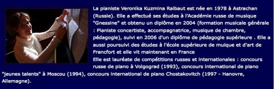 CD de Veronika KUZMINA - Bio