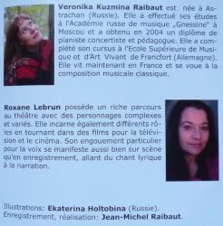 CD Edit.Eponymes - Veronika KUZMINA / Roxane Lebrun