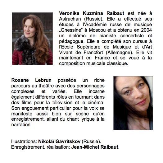 CD de Veronika KUZMINA - Narration : R.Lebrun