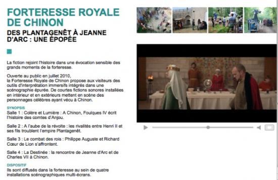 Film La Forteresse Royale de Chinon - rôle d'Aliénor
