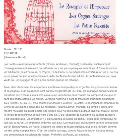 Article TopAudio - CD de Veronika KUZMINA / Narration Roxane Lebrun
