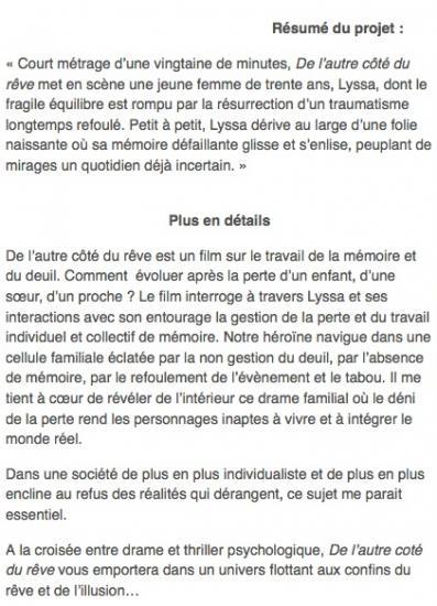 Film DE L'AUTRE COTE DU REVE - R.Lebrun : Eliane
