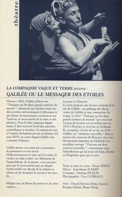 GALILEE Message des Etoiles - Tournée