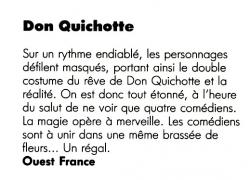 Article sur Don QUICHOTTE
