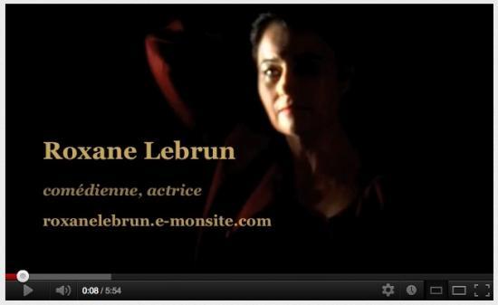 Roxane Lebrun, Actrice (site Démo)