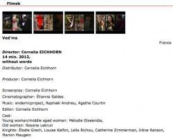 Film VED'MA de Cornelia Eichhorn